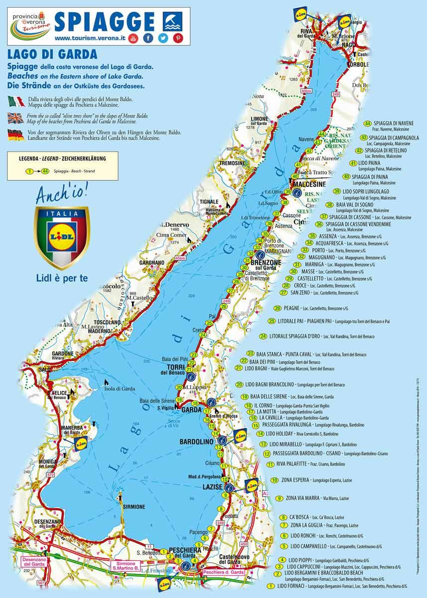 Cartina Spiagge Veneto.Spiagge Veronesi Ecco La Mappa Gardapost
