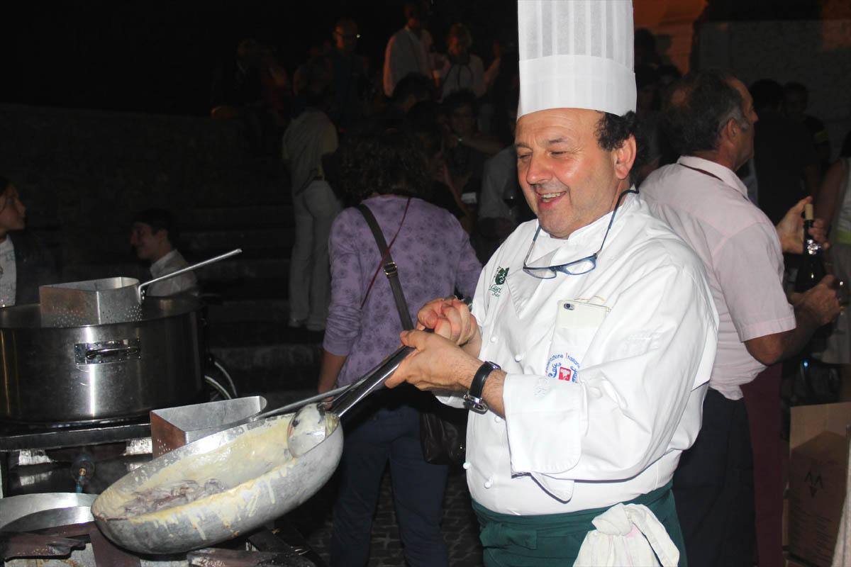 Lo chef Carlo Bresciani, responsabile food dell'evento.