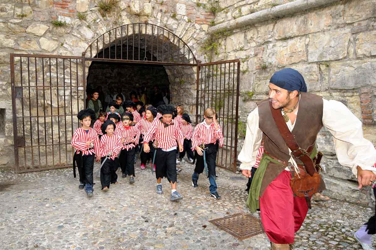 Pirati a Lonato, la Rocca diventa l'Isola di Tortuga