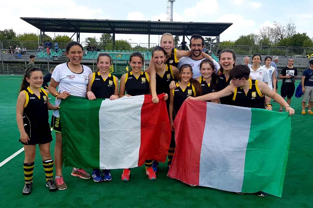 Le ragazze under 14 dell'Hokey Riva sono Campionesse d'Italia!