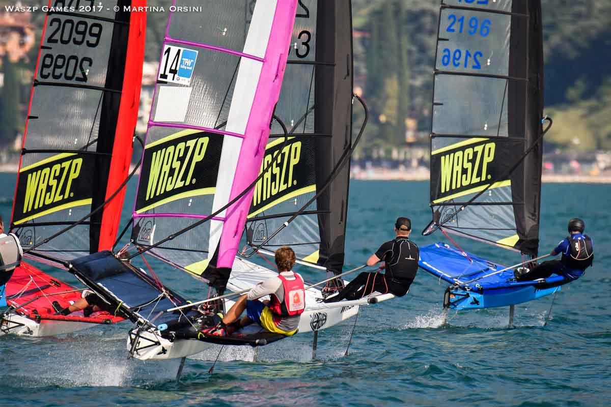 Barche di serie dello Waszp durante il recente mondiale di Campione.