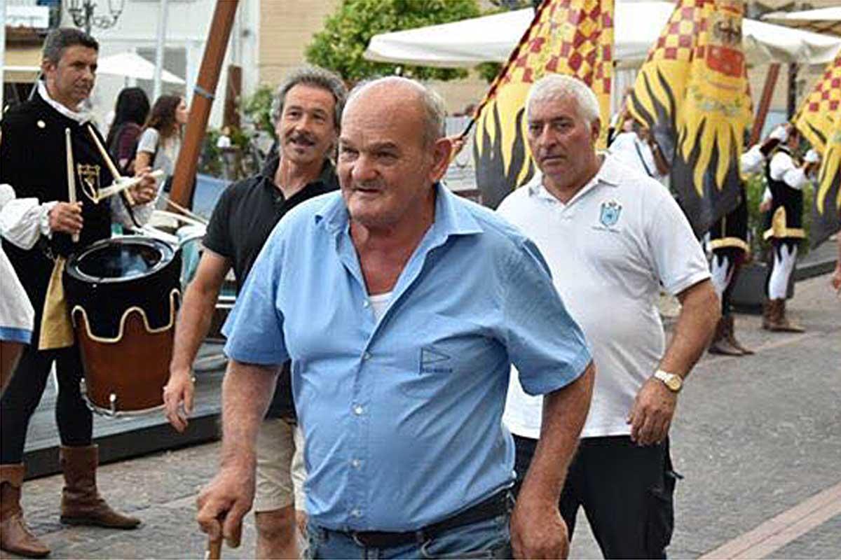 Bruno Dominici, vincitore di tre Bandiere del Lago negli anni settanta, scomparso sabato 5 agosto in un tragico incidente domestico.
