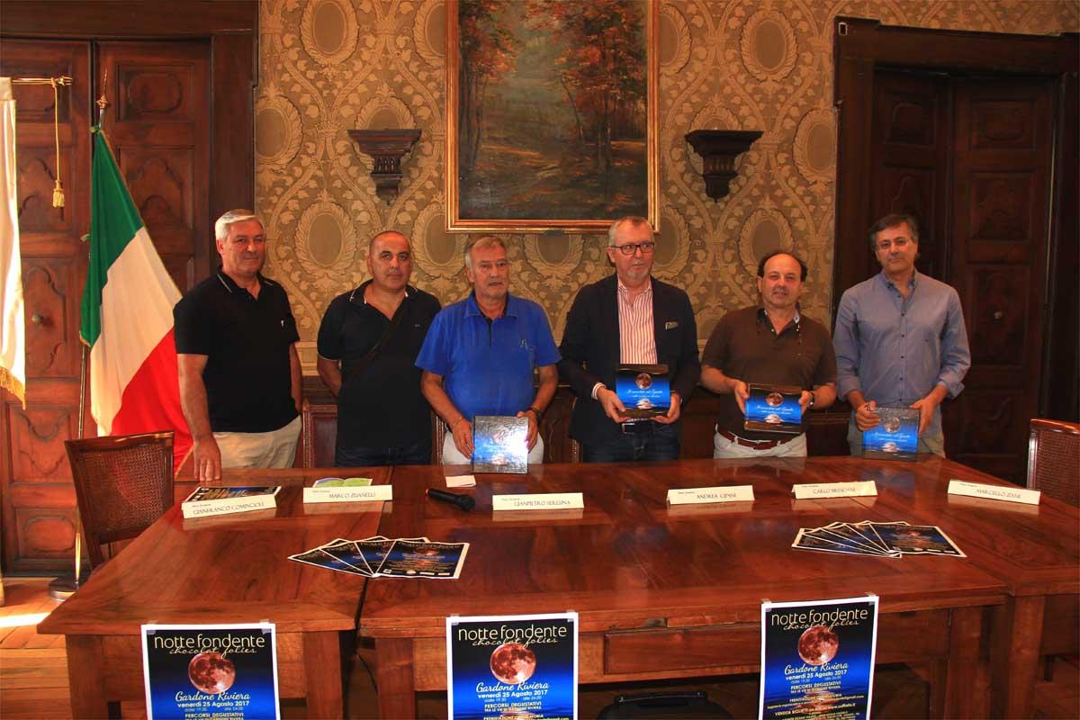 La conferenza stampa di presentazione, da sinistra: Gianfranco Comincioli, Marco Zuanelli, Giampiero Seresina, Andrea Cipani, Carlo Bresciani e Marcello Zane.