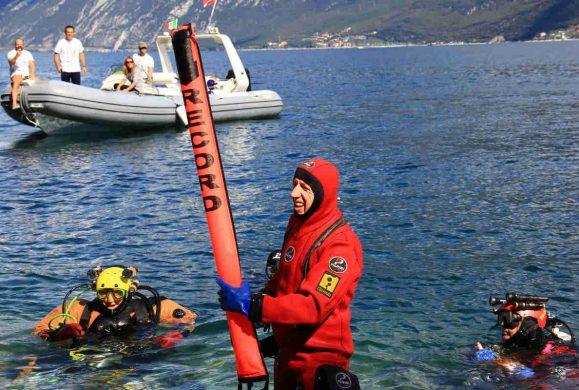 Luca Pedrali re degli abissi, immersione record a -264,8