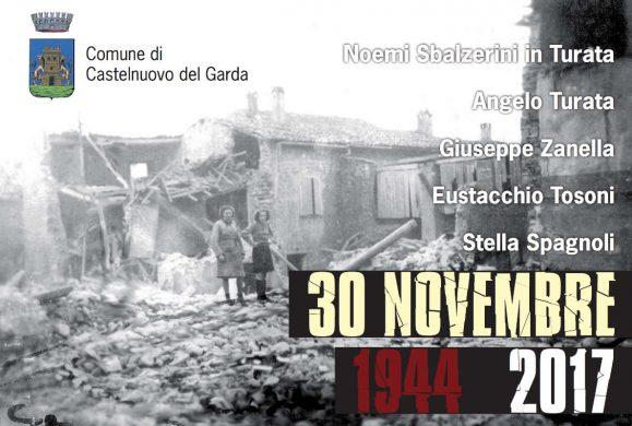 Castelnuovo commemora le vittime del bombardamento del 1944