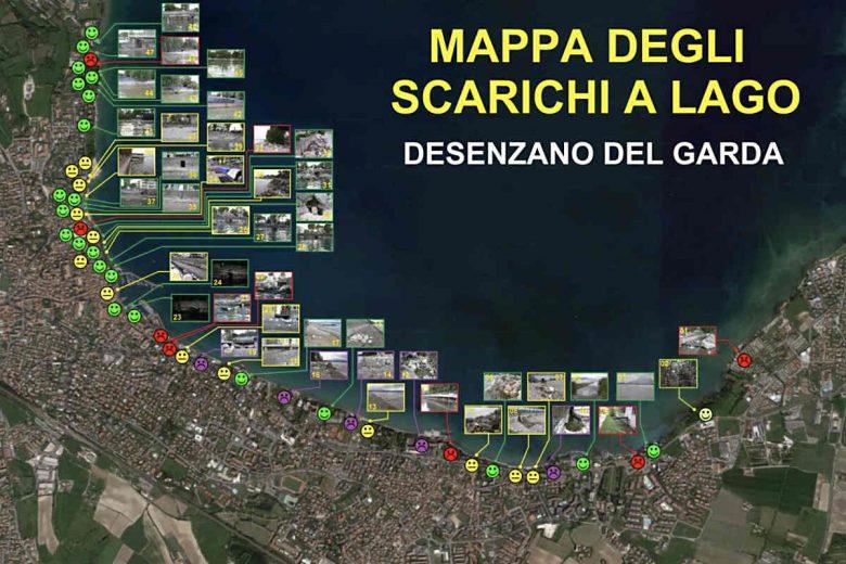 mappa scarichi a lago desenzano