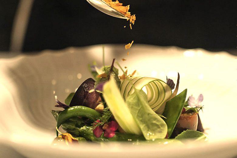 Un piatto dello chef Stefano Baiocco di Villa Feltrinelli.