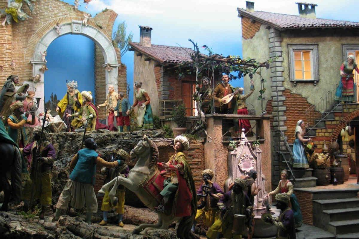 A Riva del Garda i celebri presepi napoletani
